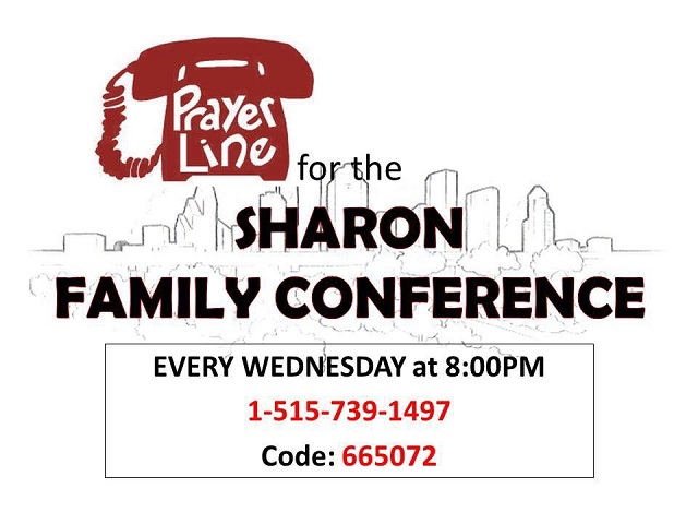 Wednsday Conf Pray 8PM: 1-515-739-1497 Code: 665072
